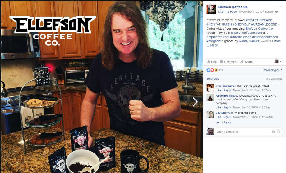 "A Minnesota town needed businesses badly. A native responded with a 'deth' sentence.A small, southern Minnesota town needed new business badly. They probably didn't expect a ""deth"" sentence in return. Dave Ellefson, the 52-year-old bassist for Megadeth, pledged to open a new coffee shop and museum in his hometown of Jackson, Minn. Photo: Ellefson Coffee Co."