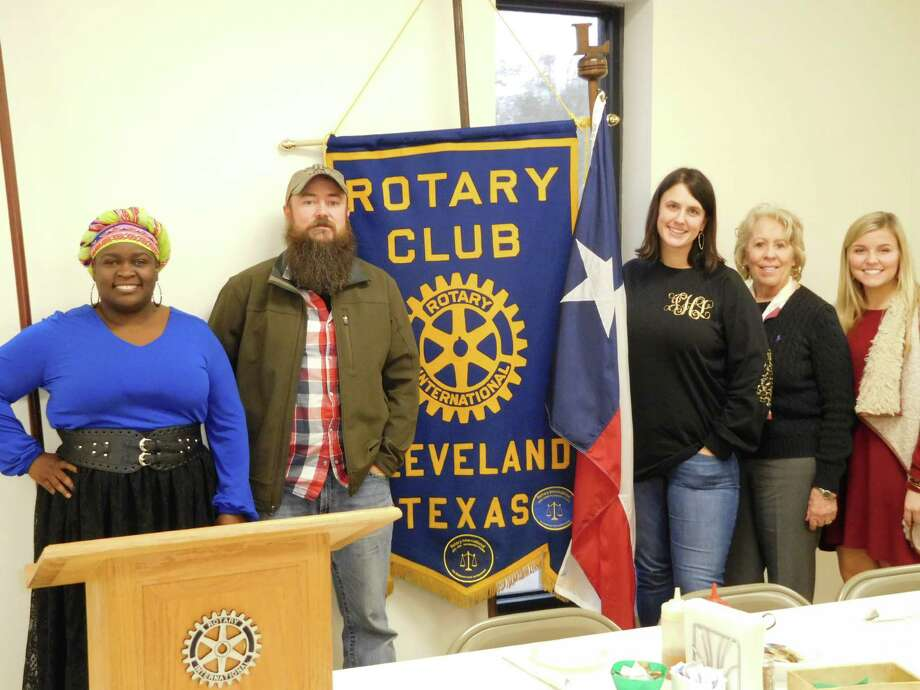 Members of the Cleveland Rotary Club learned about the plans for the 2017 Cleveland Livestock Show and Dairy Day.Donny Haltom, local attorney and Dairy Day Auction and Carnival Chairman, highlighted Dairy Day's history of supporting the youth of the community.The growth of the event and the development along Peach Avenue have made space tight, causing the group to look at possible expansion scenarios.Tentative dates are March 23 through April 14, with the all-important Youth Auction on Friday, April 7.The Rodeo will also return in 2017 as part of the Dairy Day activities.Anyone interested in volunteering with this great cause should visit their website atwww.clevelandlivestockshowdairyday.com.Rotary was also visited by Shelby Belt, student at Sam Houston State University, who talked about her sorority Alpha Delta Pi's 5K Run on April 22 to benefit Ronald McDonald House.Pictured (left to right):Rotary President Eisha Jones, Dairy Day Auction and Carnival Chairman Donny Haltom, speaker host Rotarian Jennifer Bergman, Rotarian Ernestine Belt and Shelby Belt of Alpha Delta Pi at SHSU. Photo: Submitted