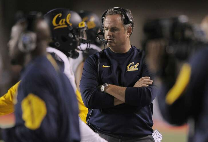 SALT LAKE CITY, UT - OCTOBER 10: Head coach Sonny Dykes of the California Golden Bears walks the sidelines during the fourth quarter of their 30-24 loss to the Utah Utes at Rice-Eccles Stadium on October 10, 2015 in Salt Lake City, Utah. (Photo by Gene Sweeney Jr/Getty Images)