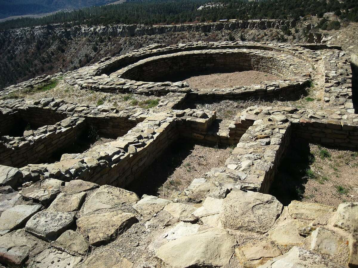 Ruins of the Great House at Chimney Rock National Monument in Colorado.