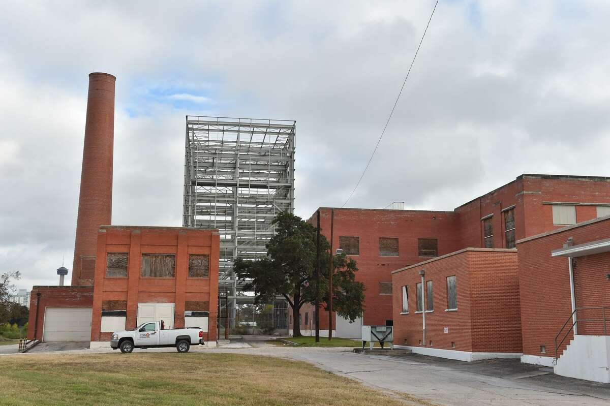 The massive brick structure that is CPS Energy Mission Road Power Plant was set for renovations by Energy Partnership Innovation Center or EPIcenter, but that never happened.