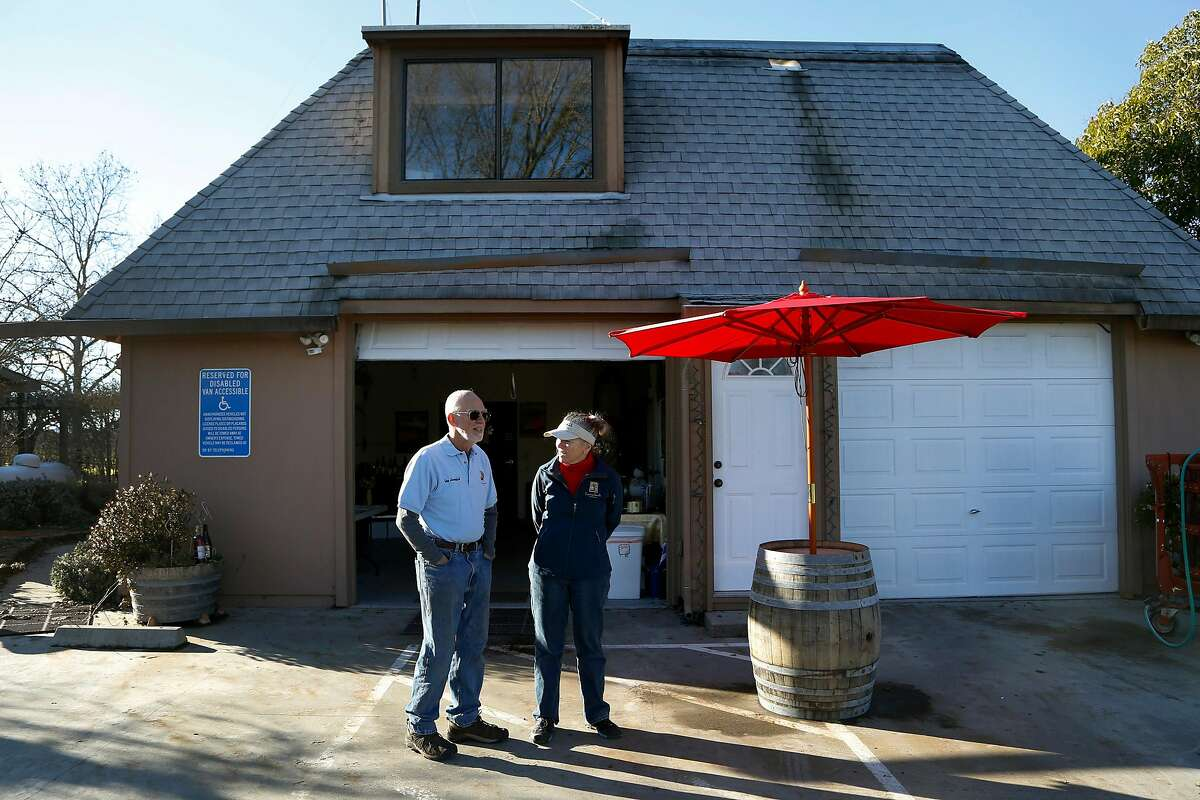 Stew and Barb of Lauterbach Cellars in Windsor, Calif., on Thursday, January 5, 2017.