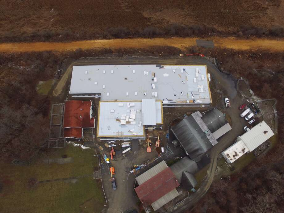 An aerial photo shows the Mohawk-Hudson Humane Society's new facility under construction. (Provided photo)