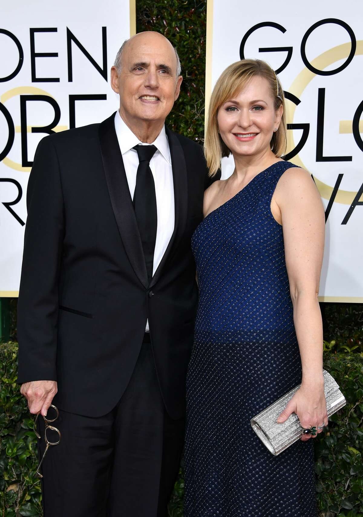 Actor Jeffrey Tambor (L) and Kasia Tambor attend the 74th Annual Golden Globe Awards at The Beverly Hilton Hotel on January 8, 2017 in Beverly Hills, California. Tambor has won two Emmys for his work on the show