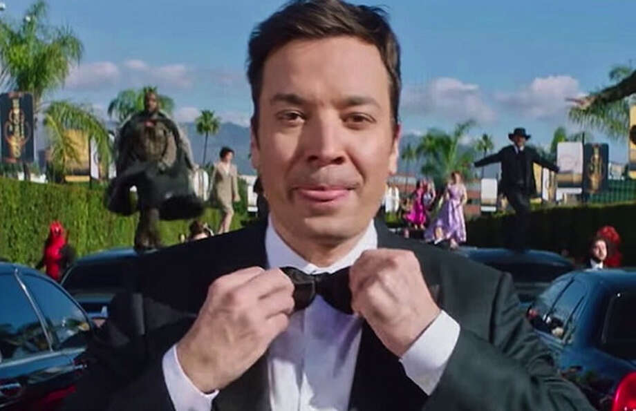 "Jimmy Fallon opened the show paying homage to ""La La Land."" See the whole musical number here."