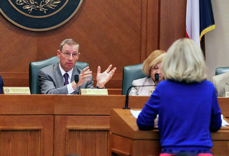 House State Affairs Committee Chairman Byron Cook, R- Corsicana, starts a committee hearing in 2013. Photo: TOM REEL