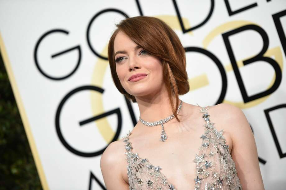 Actress Emma Stone arrives at the 74th annual Golden Globe Awards, January 8, 2017, at the Beverly Hilton Hotel in Beverly Hills, California. Photo: VALERIE MACON/AFP/Getty Images