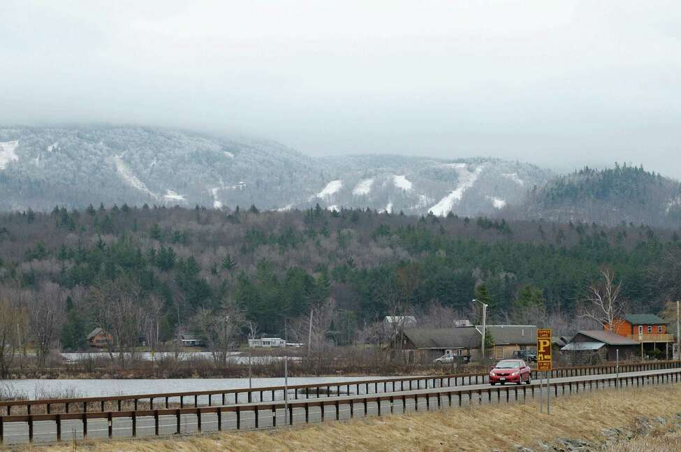 2012 file photo showing the view looking across Route 30 with the Big Tupper ski hill seen in the background on Thursday March 29, 2012 in Tupper Lake, N.Y. (Paul Buckowski / Times Union archive)