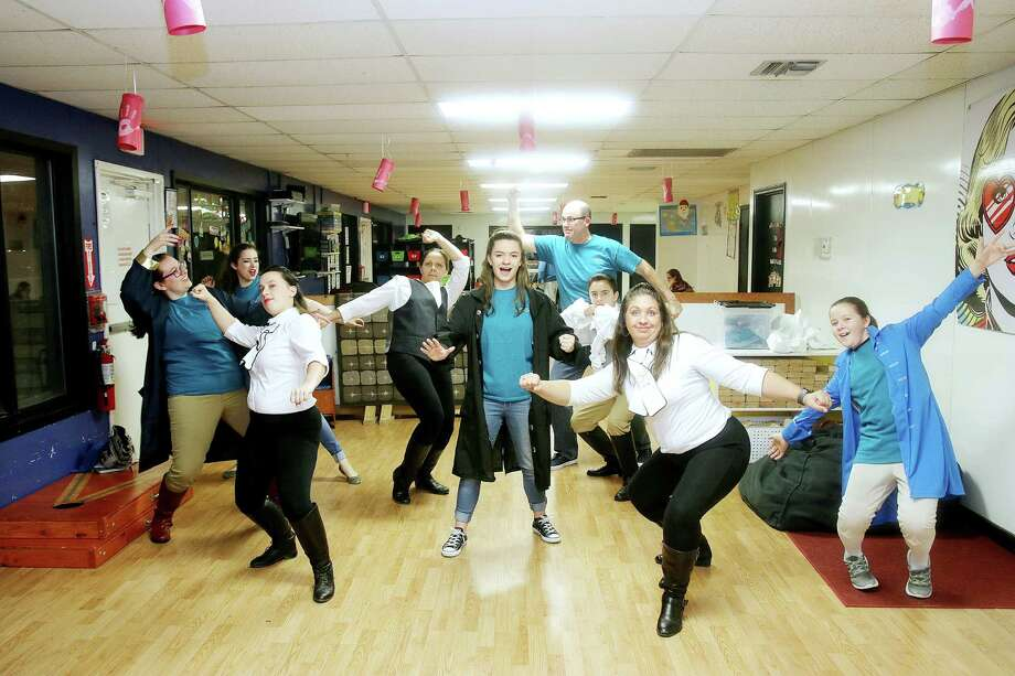 """Majestic Performance Company performers for """"Chronicles of Hamilton"""" kick it up as they rehearse songs for a production set for Jan. 21. Photo: Pin Lim / Copyright Forest Photography, 2016."""
