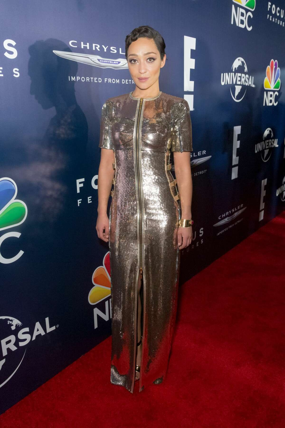 Actress Ruth Negga arrives at the NBCUniversal's 74th Annual Golden Globes After Party at The Beverly Hilton Hotel on January 8, 2017 in Beverly Hills, California.