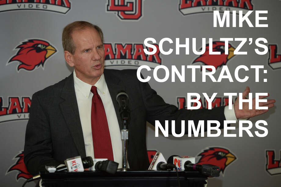 Mike Schultz's contract, by the numbers Photo: Guiseppe Barranco/The Enterprise