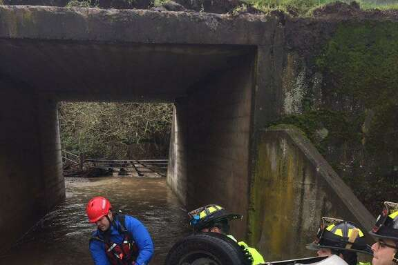 A man was found dead after police pulled his car out of a creek in Marin County, near Hicks Valley, officials said.