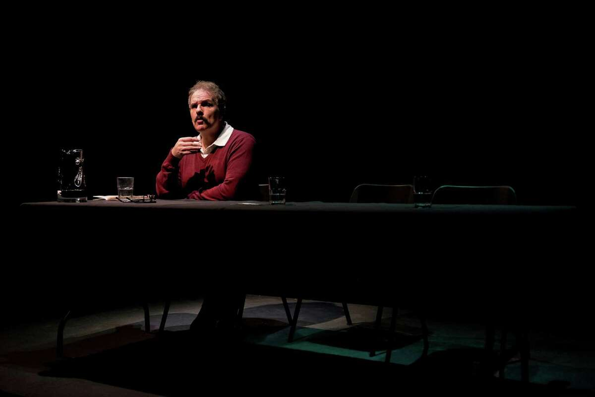 """Greg Dean in Catastrophic Theatre's production of """"The Designated Mourner"""""""