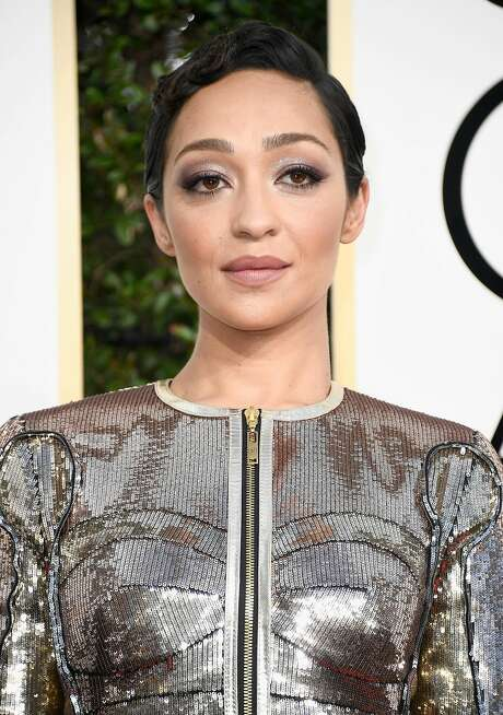 BEST: Ruth Negga in Louis Vuitton at the 74th annual Golden Globe Awards. Photo: Frazer Harrison, Getty Images