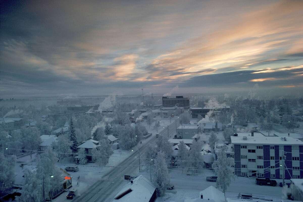 1: Fairbanks, Alaska About 24 micrograms per cubic meter, up 9.4 micrograms since 2000.