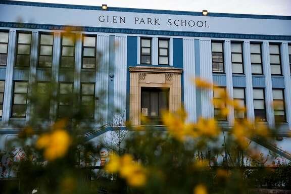 The exterior of Glen Park School is seen, in San Francisco, Calif., on Monday, Jan. 9, 2017.