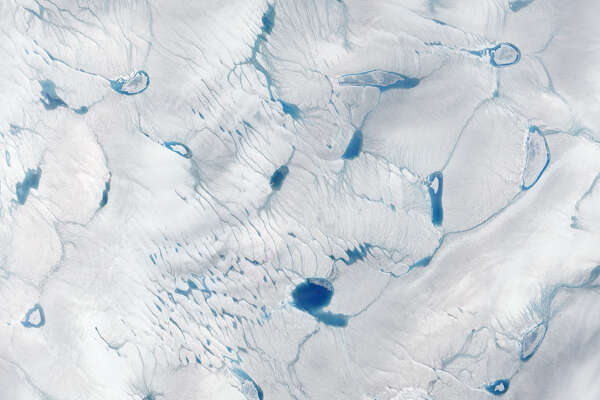 Exceptionally early ice melt, Greenland     - After   