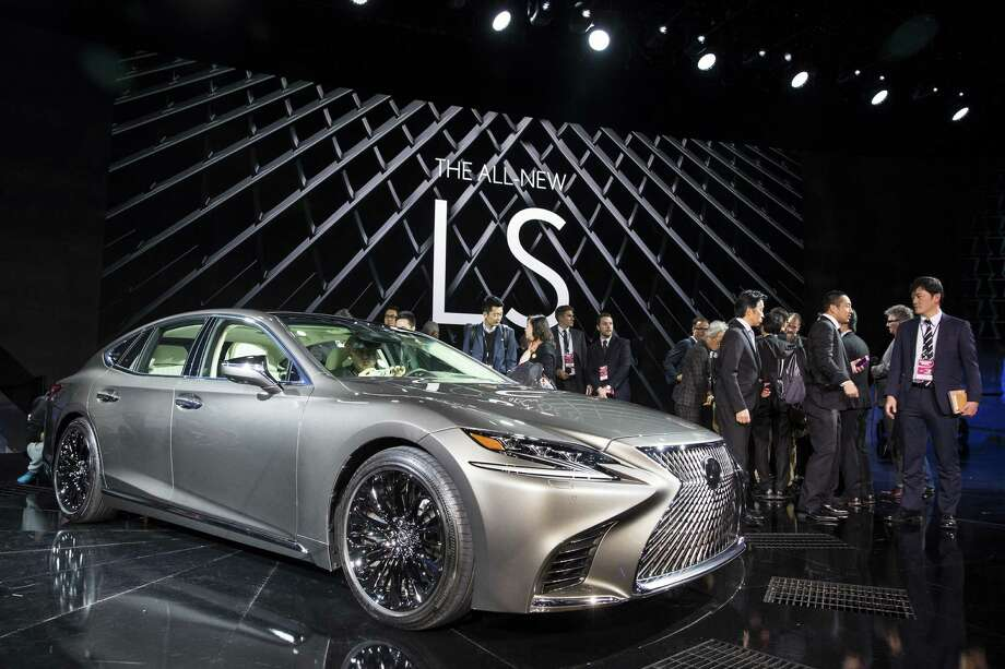 The new Lexus LS500 sedan is on display at the North American International Auto Show in Detroit. Trump's vow to impose tariffs on imports from Mexico has changed the focus of the show from what new vehicles are on display, to where they are made. Photo: Brett Carlsen /New York Times / NYTNS