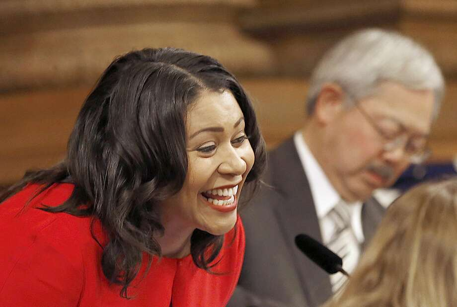 London Breed becomes the president of the SF board of supervisors on Monday, January 9, 2017, in San Francisco, Calif. Photo: Liz Hafalia, The Chronicle