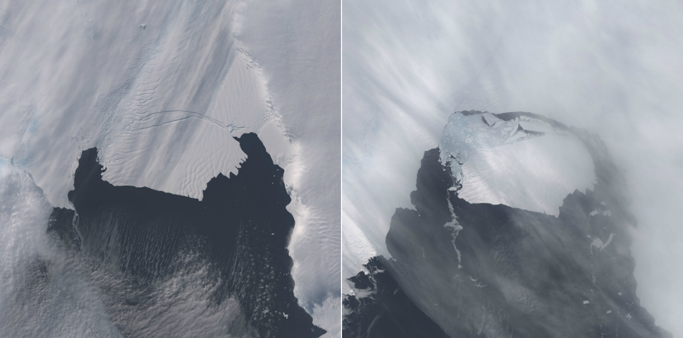 30 terrifying before and after images of climate change