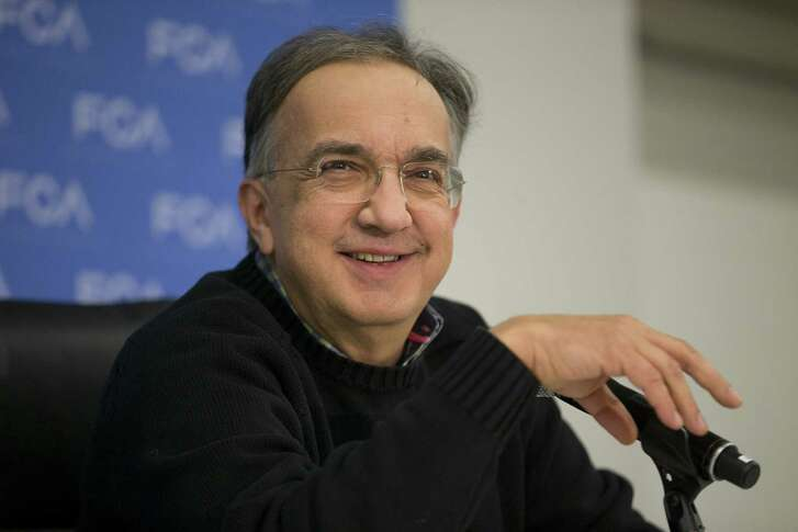 Sergio Marchionne, chief executive officer of Fiat Chrysler Automobiles NV, smiles during a news conference at the 2017 North American International Auto Show (NAIAS) in Detroit, Michigan, U.S., on Monday, Jan. 9, 2017. Marchionne suggested that President-elect Donald Trump might support the idea of General Motors Co. merging with his company. Photographer: Daniel Acker/Bloomberg