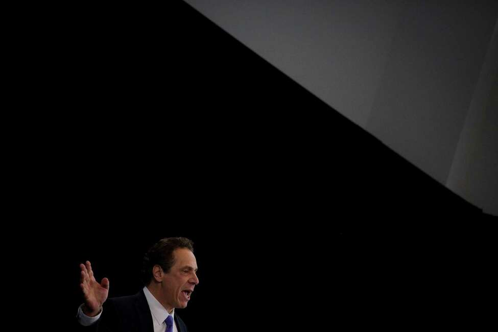 New York Gov. Andrew Cuomo delivers his State of the State address at One World Trade Center in New York, Jan. 9, 2017. Instead of delivering one speech to the Legislature in Albany, Cuomo is sharing his plans for New York's future at six locations over three days. (John Taggart/The New York Times)