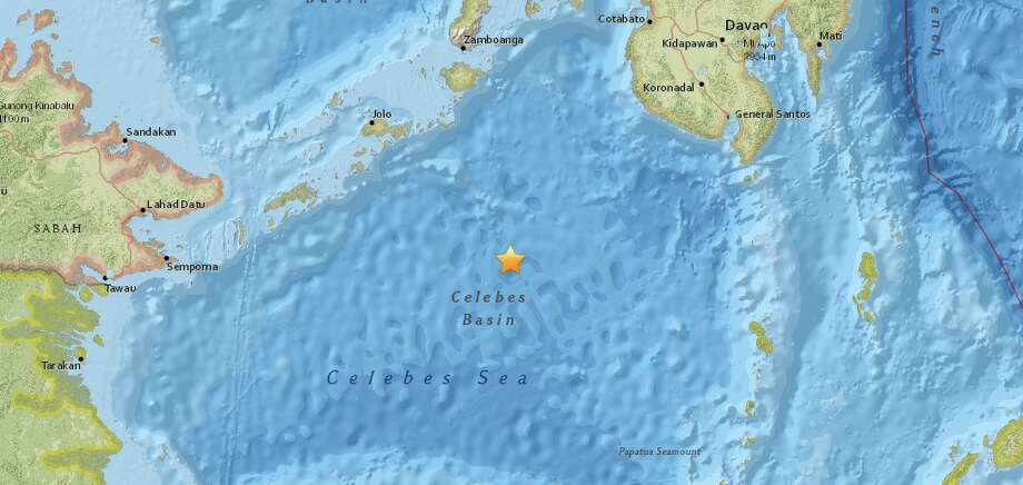 The United States Geological Survey reported a preliminary magnitude 7.3 earthquake struck near Tabiauan, Philippines. Photo: USGS