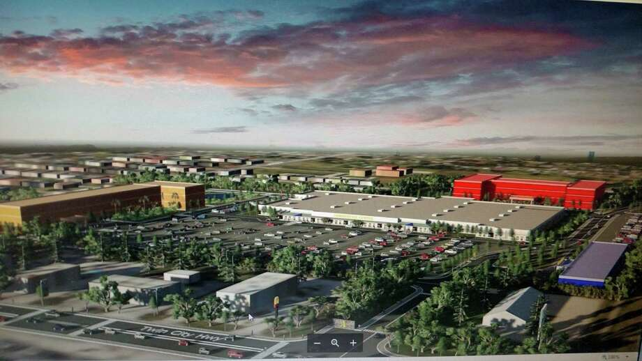 An artist's rendering of what the 80,000 sq. ft. that used to be occupied by a Super K-Mart in Groves, Texas could look like. A developer wants to open a medical center, an assisted care facility and an extended stay hotel in the space. Photo: City Of Groves