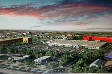 An artist's rendering of what the 80,000 sq. ft. that used to be occupied by a Super K-Mart in Groves, Texas could look like. A developer wants to open a medical center, an assisted care facility and an extended stay hotel in the space.