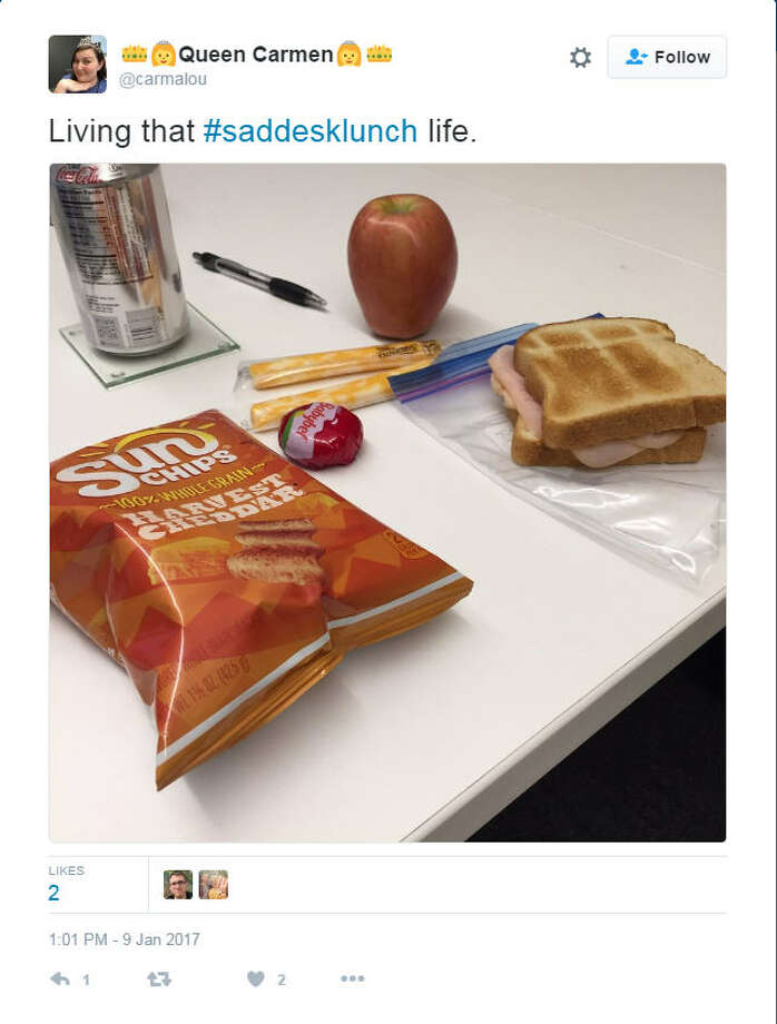 The saddest desk lunches in 2016Source: Twitter Photo: FILE/@carmalou Via Twitter