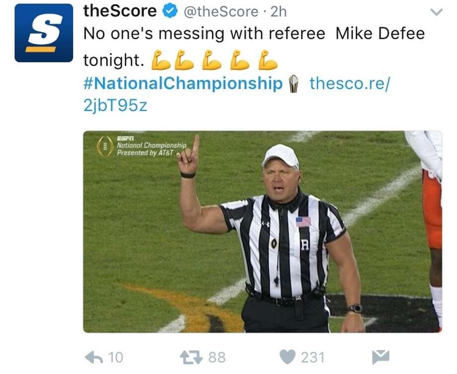 Internet-famed ripped ref back for Lamar game - Houston ...