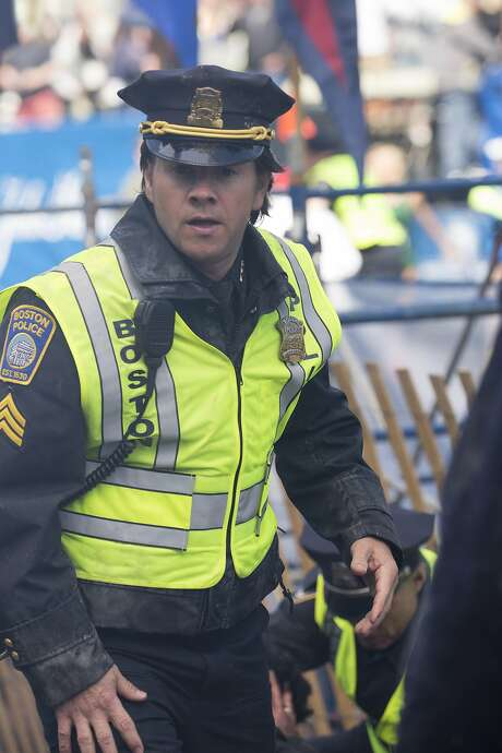 """In """"Patriots Day,"""" Mark Wahlberg plays Tommy Saunders, a fictional Boston cop who always turns up where the action is. Photo: Karen Ballard, Associated Press"""