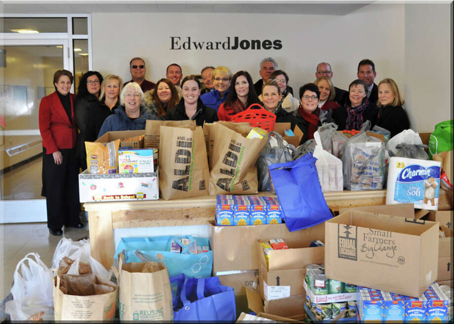 Edward Jones hosted a food drive in December.