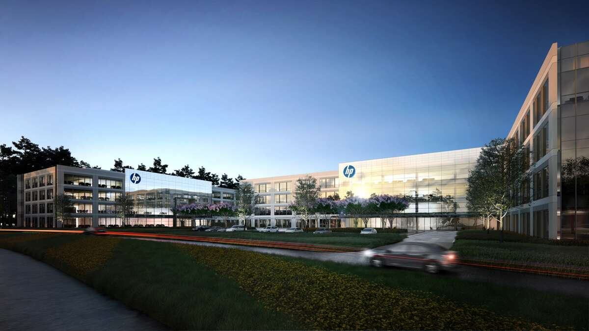 HP will occupy a new campus with 378,000 square feet in two buildings on 12 acres in Springwoods Village near Interstate 45 North and the Grand Parkway.