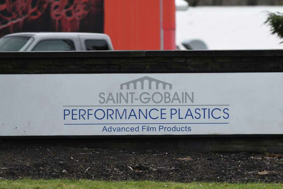 Sign outside Saint-Gobain Performance Plastics on Wednesday, Jan. 4, 2017, in Hoosick Falls, N.Y. (Will Waldron/Times Union) Photo: Will Waldron