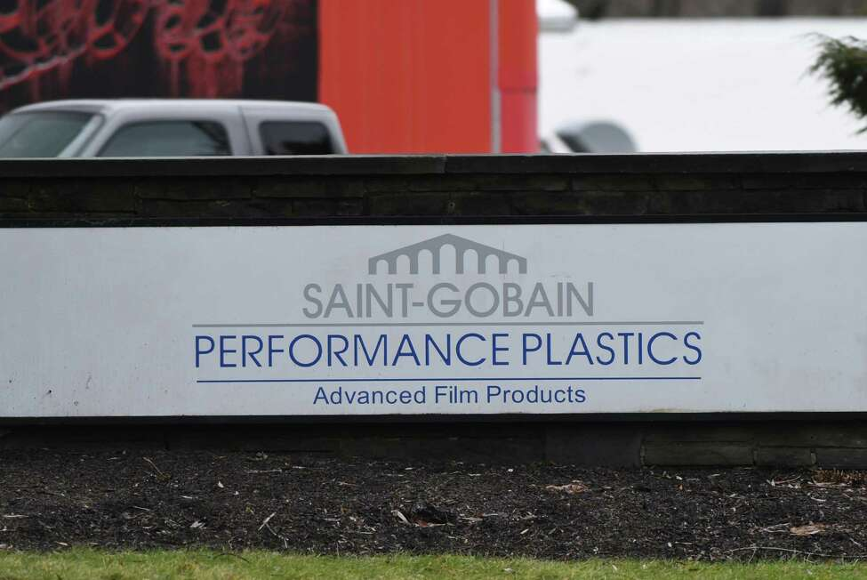Sign outside Saint-Gobain Performance Plastics on Wednesday, Jan. 4, 2017, in Hoosick Falls, N.Y. (Will Waldron/Times Union)