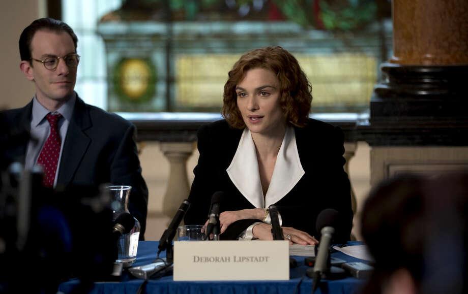 """Rachel Weisz stars as acclaimed writer and historian Deborah E. Lipstadt in """"DENIAL,"""" a Bleecker Street release. Photo: Laurie Sparham / © 2016 Bleecker Street"""