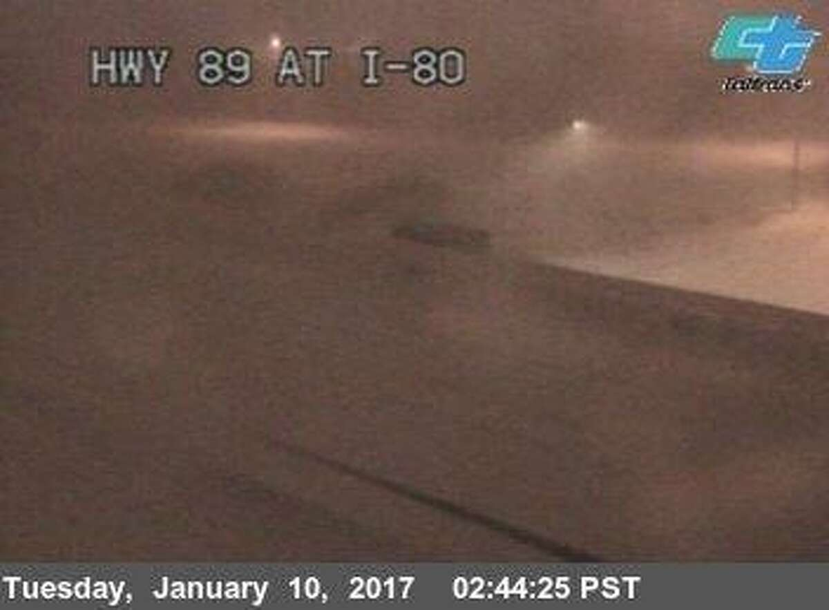 Heavy snow the in Sierra closed a section of Highway 80, according to the California Highway Patrol.