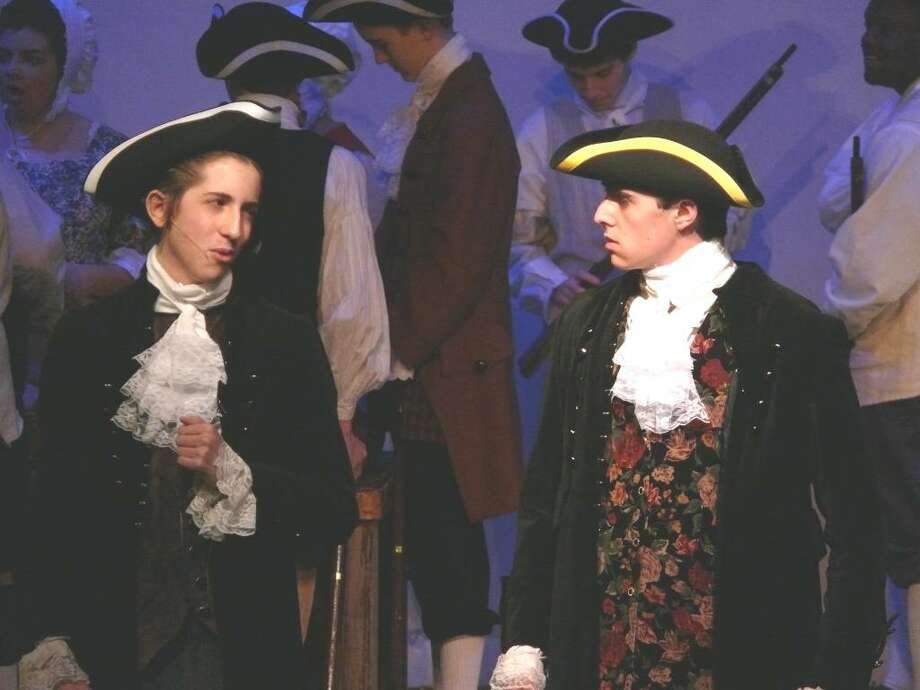 "Doug Streat of Redding and JP Consilgio of Norwalk star in ""The Battle & Burning of Norwalk, 1779"" at the Crystal Theatre Memorial Day weekend. Photo: Contributed Photo / Stamford Advocate Contributed"
