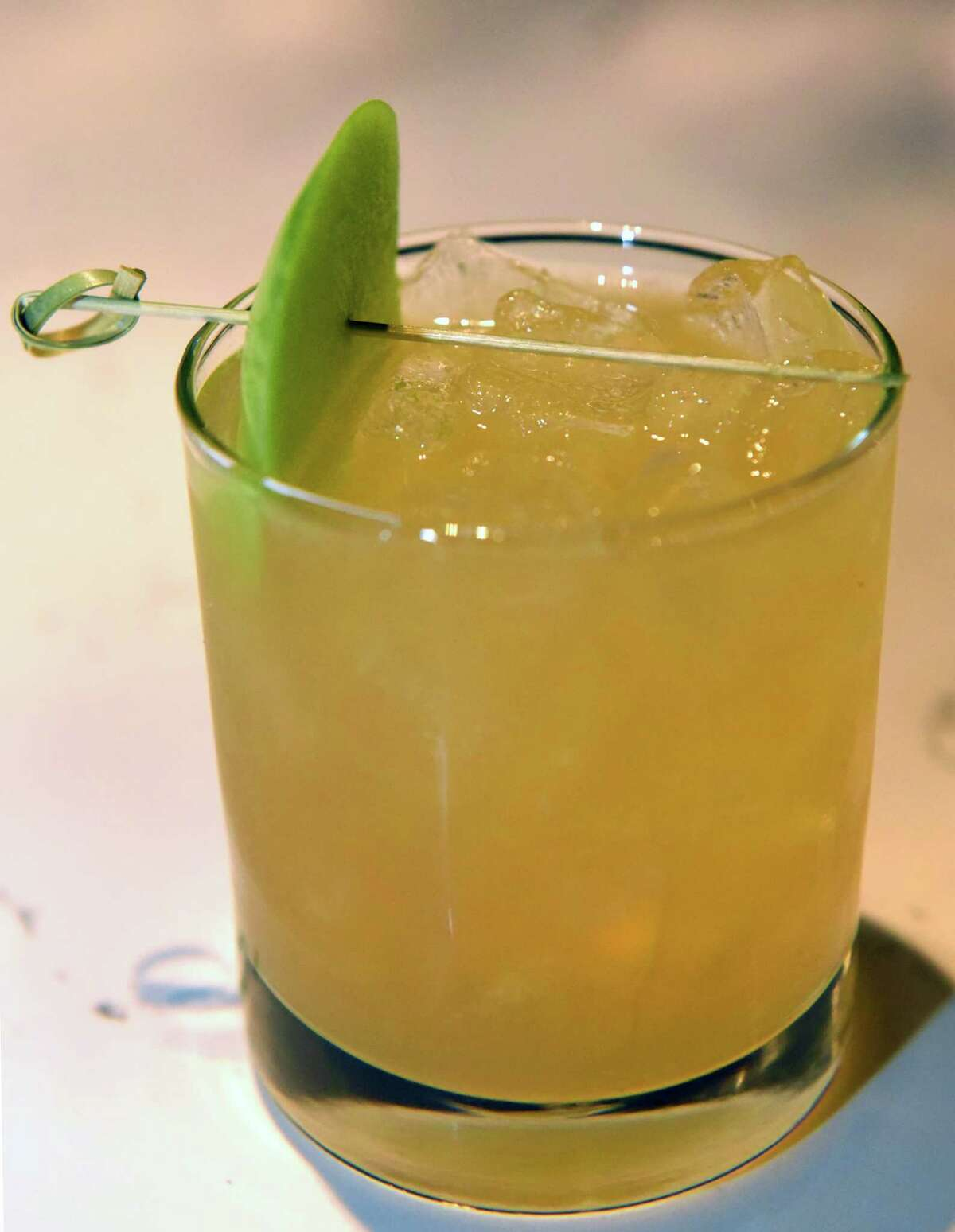 Bartender Kyle Cerutti's President Martin Van Buren inspired cocktail at 677 Prime on Friday Dec. 23, 2016 in Albany N.Y. (Michael P. Farrell/Times Union)