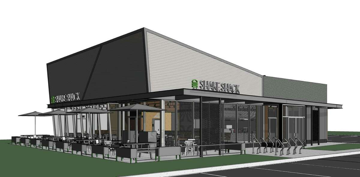 An architectural rendering of the Shake Shack at 1340 Post Road.