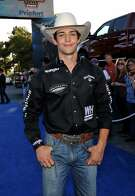 LAS VEGAS, NV - OCTOBER 23:  Professional bull rider Ty Pozzobon arrives at the second round of the Professional Bull Rider's Built Ford Tough World Finals at the Thomas & Mack Center on October 23, 2014 in Las Vegas, Nevada.  (Photo by David Becker/Getty Images for Professional Bull Riders)