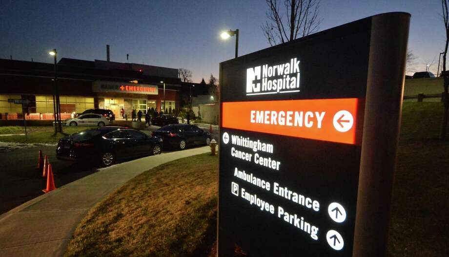 The entrance to the emergency room at Norwalk Hospital, where police investigate a car allegedly driven there by a gunshot victim on Tuesday, Dec. 20, 2016 in Norwalk. Photo: Alex Von Kleydorff / Hearst Connecticut Media / Connecticut Post