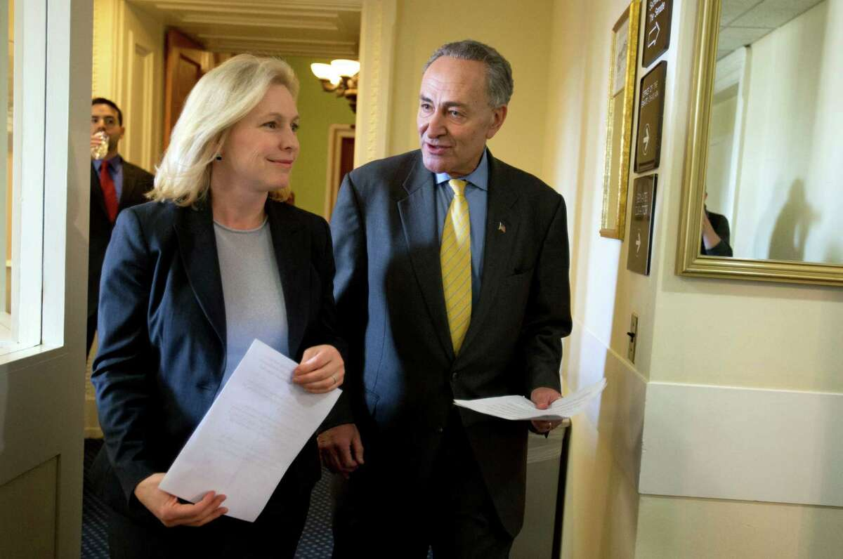 Senators Charles Schumer and Kirsten Gillibrand urged the U.S. Environmental Protection Agency not to declare that the 7-year, $1.7 billion cleanup satisfies a 2002 agreement between EPA and GE.