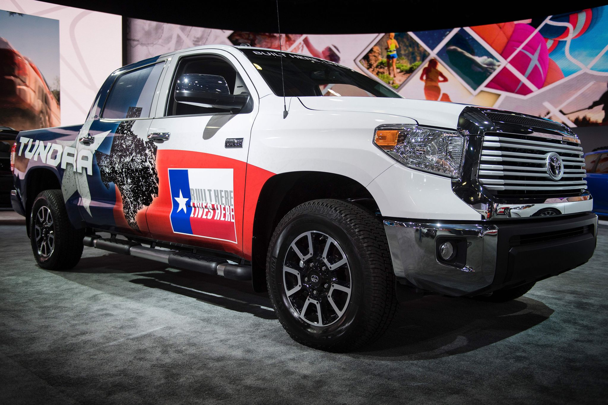 Toyota shows off the new Tundra at the Detroit auto Show Houston
