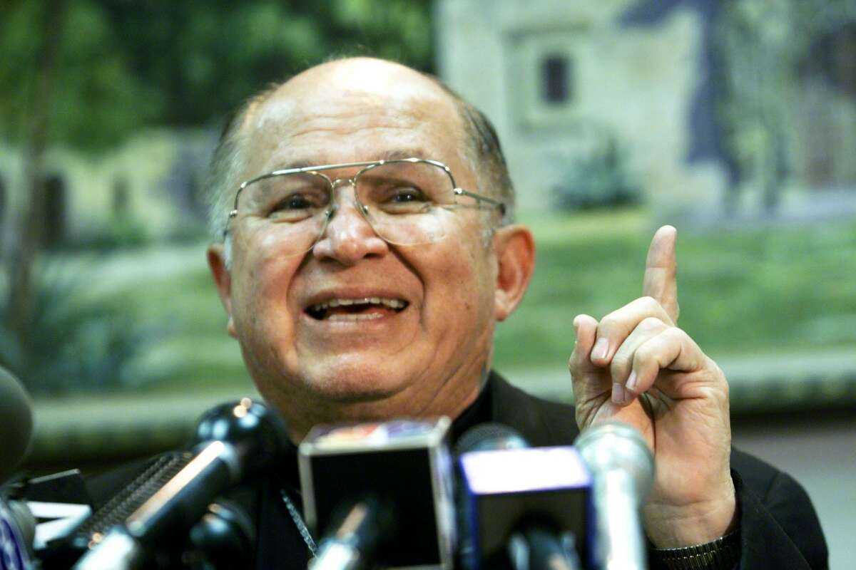 Archbishop Patrick Flores at the Diocese Chancery in June 2000. He died Monday.