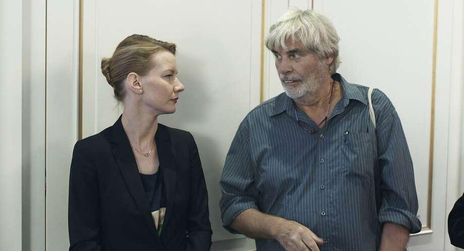 """Daughter Sandra Hüller and father Peter Simonischek have a comic but complicated interaction in """"Toni Erdmann."""" Photo: Komplizen Film, Associated Press"""