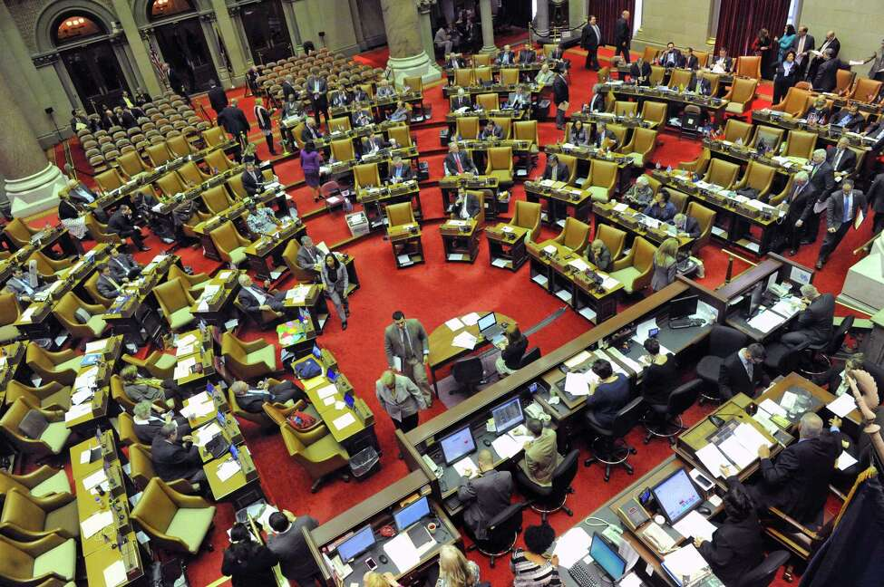 The New York State Assembly in session at the Capitol on Tuesday April 12, 2016 in Albany , N.Y. (Michael P. Farrell/Times Union)