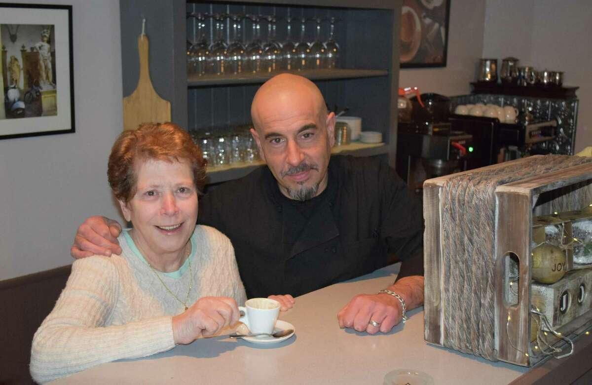 Il Colosseo on Route 202 in New Milford is celebrating recent renovations and a new manager and chef. Above is restaurant owner Rosalia Des Biens and her nephew, manager/chef Roberto Pizzo.