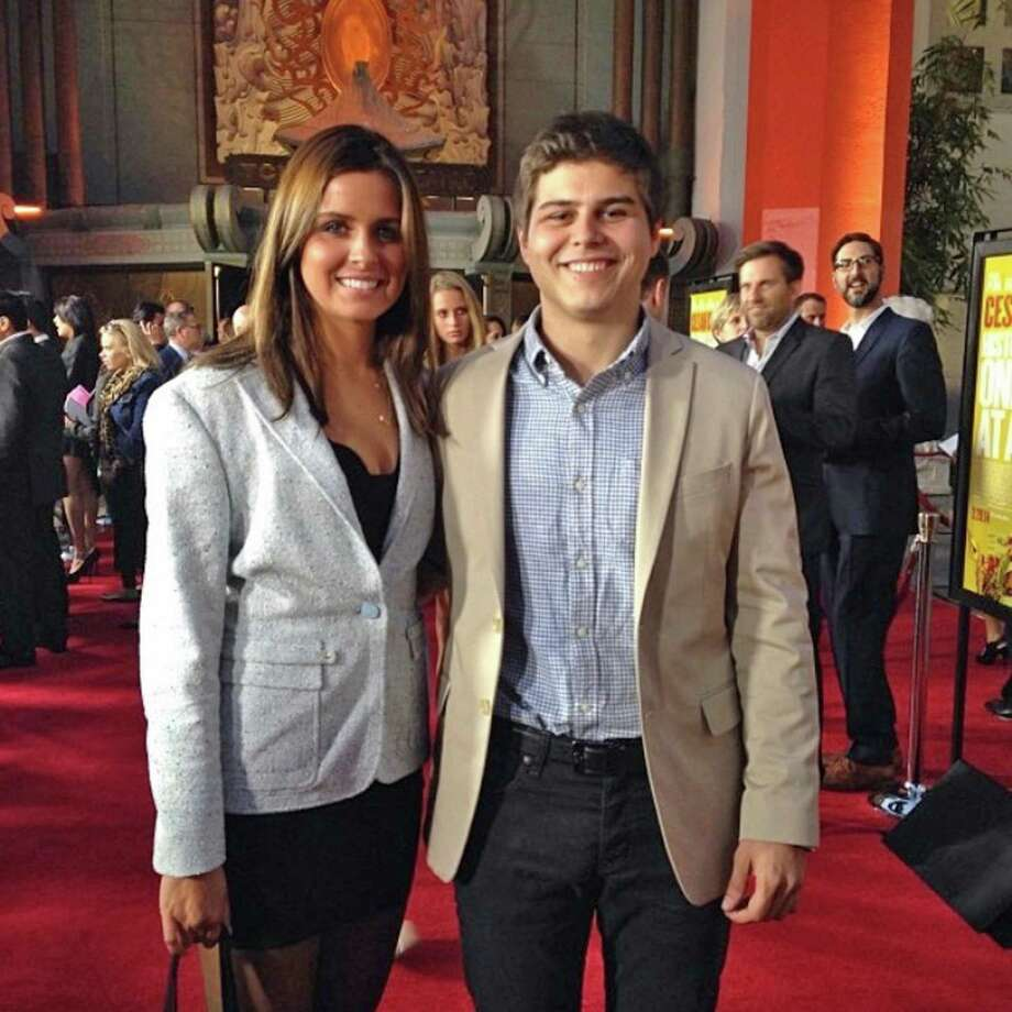 Olenka Polak and her brother Adam, who grew up in Riverside and founded successful app company myLingo. Photo: Contributed Photo / Olenka Polak / Greenwich Time Contributed